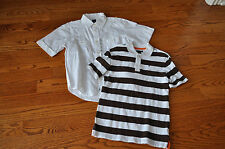 Boys Lot of 2 GAP/TOMMY HILFIGER Rugby Short Sleeve Shirts Size 7-8