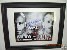 UFC 67 SIGNED 8x10 ANDERSON SILVA FRAMED FULL SIGNATURE!