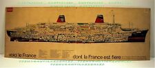AFFICHE PARIS MATCH LE FRANCE DONT LA FRANCE EST FIERE 96 x 34 cm