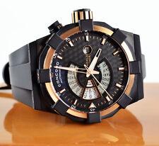 Concord C1 World Timer 18k Rose Gold 47mm DLC Men's Watch # 0320049 - NEW