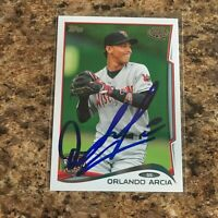 Orlando Arcia Signed 2014 Topps Pro Debut Rc Auto Milwaukee Brewers
