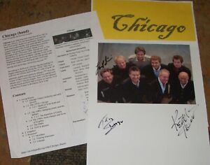 CHICAGO Autographed  photo & Photos -VERY HOT