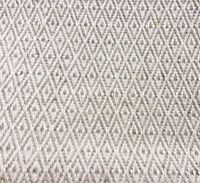 Diamond Natural LINEN - Cotton Fabric. Price per 1/2 meter