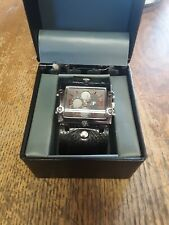 JF Watch Alarm Chronograph 1/100 Second Black Bold Large--NEW IN BOX--GREAT LOOK