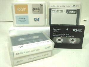 4X HP DDS-4 C5718A 40GB - DIGITAL DATA STORAGE - CINTA BACKUP- DATOS 40 GB TAPE