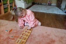 *REDUCED* kids child's Age 2-3 Montessori smock *ORANGE*Nursery apron glue paint