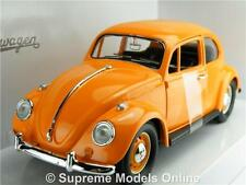 VOLKSWAGEN BEETLE MODEL CAR ORANGE 1:24 SCALE ROAD SIGNATURE 110288 1967 K8Q