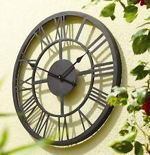 Big Garden Clock Large Metal Decorative Indoor Outdoor Patio Round Vintage Timer