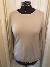 WOMEN'S CASHMERE TAN NANETTE LEPORE CREW NECK  PULLOVER SWEATER  MED NEW (P)