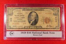 National Currency $10 Note Brown Seal Saint Paul Minnesota PB