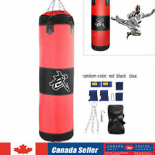 Empty Training Boxing Hook Kick Sandbag Fight Karate Punch Punching Sand Red