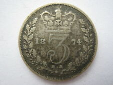 1874 Young Head silver Threepence NF