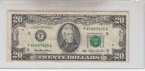 1993 (F) $20 Twenty Dollar Bill Federal Reserve Note Atlanta Vintage Currency
