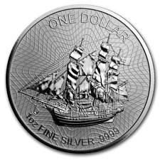 COOK ISLAND 1 Dollar Argent 1 Once Bounty 2020