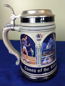 Vintage Limited Edition XXIIIrd Olympiad Ceramic Beer Stein Mug (W German)