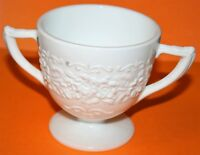 Vintage Milk White Indiana Glass Orange Blossom Sugar Bowl 4 Available Excellent