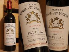 1981er Chateau Grand Puy Ducasse-Pauillac-Top!