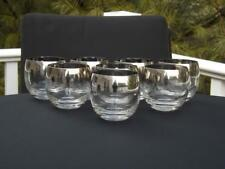8 Mid Century Modern Roly Poly Dorothy Thorpe Silver Rim Glasses 10 Oz. Mad Men