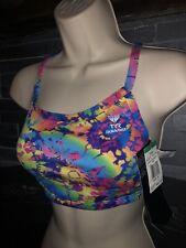 TYR Swimsuit Bikini Swim Top Size M Groovy Diamond Fit NEW/NWT