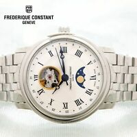 NEW Frederique Constant Classic Heart Beat Moonphase Date Watch FC-335MC4P6B2