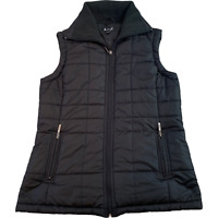 MISS H. Black Padded Sleeveless Vest Gilet Jacket Womens Small Polyester