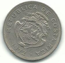 A HIGH GRADE AU 1972 COSTA RICA 2 COLONES COIN-JAN869