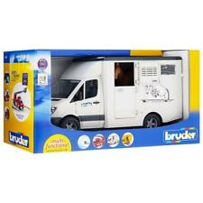 BRUDER MERCEDES SPRINTER HORSE BOX Kids Toy MB Transporter with Horse 1:16