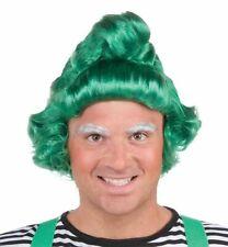 Green Elf Wig Oompa Loompa Halloween Christmas Munchkins Costume Accessory New