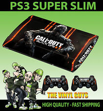 Playstation Ps3 Super Slim Call Of Duty Black Ops Iii Cod Bo 3 Skin Sticker
