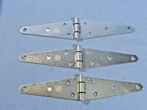 """Lot of 3  Strap Hinge National N128-017 Zinc Plated 5"""""""