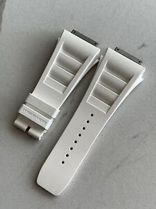NEW NEVER WORN Richard Mille White 11S Caoutchouc Replacement Watch Strap Band