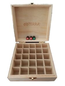 doTERRA Wooden 25 Essential Oil Storage Box & 2020 1mL Holiday & Harvest Spice!