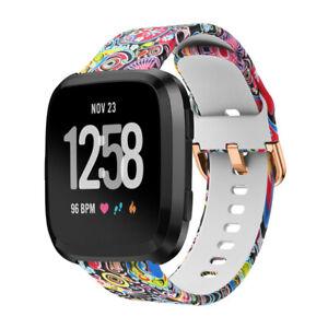 Sport Printed Silicone Strap Watch band Wrist band for Fitbit Versa/Versa2/Lite