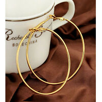 Vogue 14K Gold Silver Plated Women Hoop Earrings Dangles Fashion Jewelry