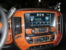 GMC SIERRA SLE SLT Z71 INTERIOR WOOD DASH TRIM KIT SET 2014 2015 2016 2017 2018