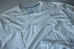 Tommy Bahama T Tee Shirt Bali Skyline White TR211585 LS New Large L
