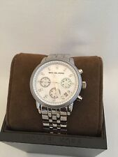 🎗 NWT Authentic Michael Kors Damen MK5020 Silber Edelstahl Armbanduhr 🎗