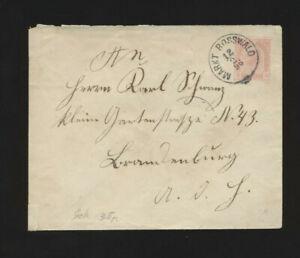 5 Kreuzer Ganzsachen-Brief 1896 aus Markt Rosswald
