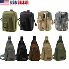 Outdoor Men Backpack Molle Tactical Sling Chest Pack Shoulder Bag Hiking Bag
