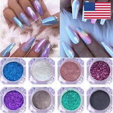 Chrome Powder Mirror Nail Art Glitter Pigment Rose Gold Pearl Silver Dust Decor