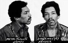 "Jimi Hendrix Mugshot 1969 HIGHEST QUALITY - 17"" x 22"" Fine Art Print - 00250"