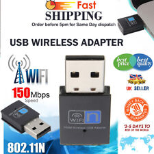 150Mbps Wireless USB WiFi Dongle Adapter Mini for PC Laptop LAN Network 2.4GHz