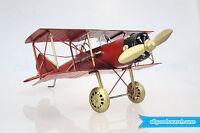 Scrap Metal Art Handmade Nuts & Bolts Red Baron Albatros Biplane Model Aircraft