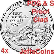 2016 PDSS Cumberland Gap National Historical Park QUARTER SET P D S S Proof Mint