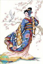 Cross Stitch Kit ~ Gold Collection Elegant Asian Lady Oriental Kimono #3795