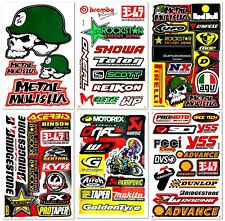 Motocross Motorcycles Dirt Bike RC Racing D6041 Lot 6 Vinyl Decals Stickers Kit