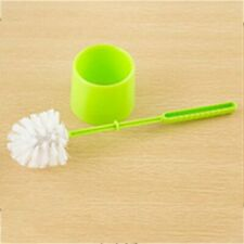 Thick Plastic Long Handle Toilet Brush Bathroom Cleaning Brush with Base GN