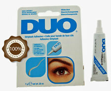DUO Waterproof Eyelash Glue Adhesive - White, Clear, 7g - Genuine - Made in USA