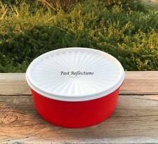 TUPPERWARE SERVALIER CLASSIC COOKIE CANISTER CHILLI RED & WHITE