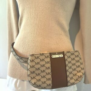 Michael Kors Large / XL Vanilla Fanny Pack Belt Bum Bag Beige